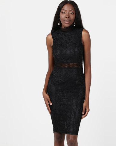 AX Paris Lace Midi Dress Black