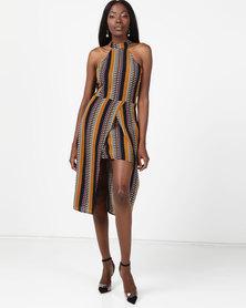 AX Paris Aztec Print Midi Dress Multi