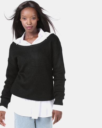 AX Paris Black Cosy Jumper Black