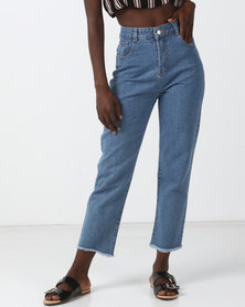 Goldie Mailey High Waisted Cropped Flare Jeans Blue
