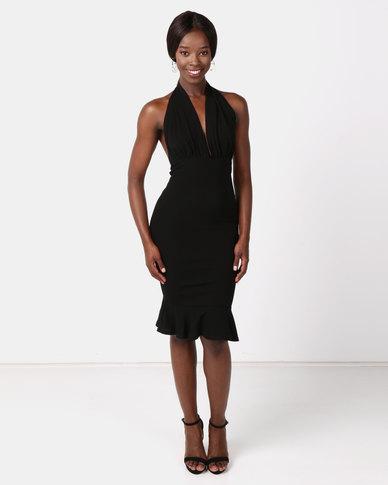 a7afb47eba2 AX Paris Backless Fishtail Midi Dress Black
