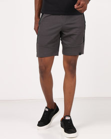 Dissident Akah Knitted Jog Shorts Charcoal