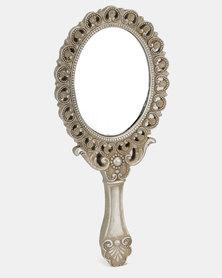 Fabricor Beck Hand Heeld Mirror Grey