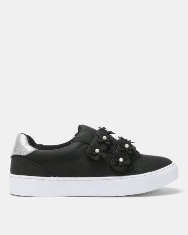 Utopia Flower Sneakers Black