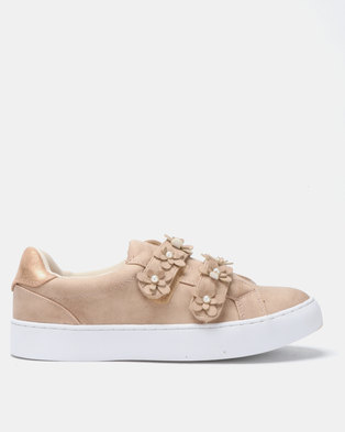 Utopia Flower Sneakers Rose Gold