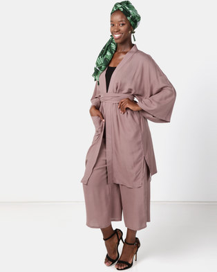 Faisa_Southafrica 2 Piece Kimono Set Mauve