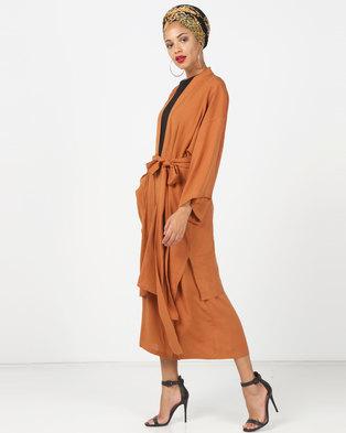 1c1659ce8413 Faisa Southafrica 2 Piece Kimono Set Tan
