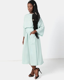 Faisa_Southafrica 3/4 Kaftan Dress Mint Green