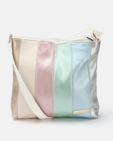 Blackcherry Bag Colour Block Crossbody Bag Multi