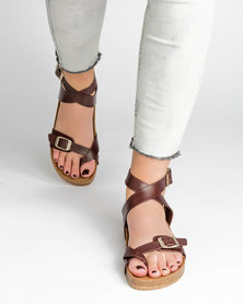 Jeffrey Campbell Molokai  Chestnut Distressed Leather