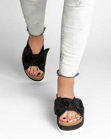 Jeffrey Campbell Rotuma Black Suede Sandals