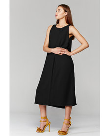 MARETHCOLLEEN Camille Shift Dress Black