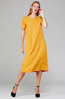MARETHCOLLEEN Harper Shift Dress Yellow