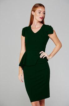 MARETHCOLLEEN Lock Dress Emerald Green