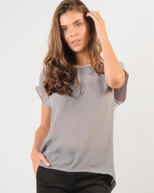 Marique Yssel Combo Boxy Top - Grey