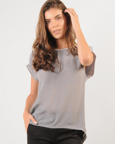 Marique Yssel Combo Boxy Top - Grey