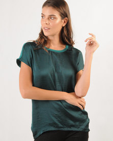 Marique Yssel Combo Boxy Top - Emerald