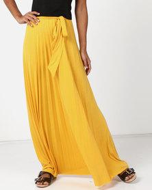 Legit Pleated Maxi Skirt Yellow