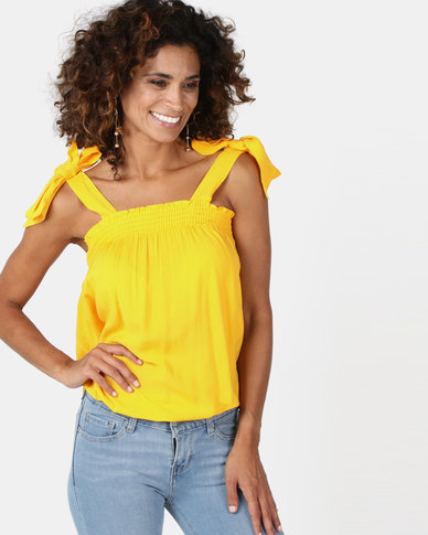 Legit Tie Strap Cami Yellow