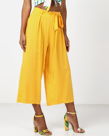 Legit Culotte With Self Belt Yellow