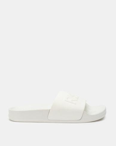 Legit Rise & Slay Mule Slides White