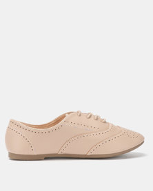 City Style by Jada Brush PU Flats Hazelnut