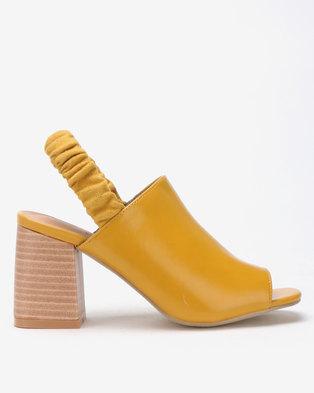 a48aa87b4d05 Jada Chic by Jada Sling Back Block Heels Mustard