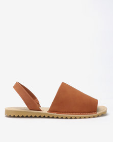 Tatazi by Jada Brush Nubuck Sling Back Flats Tan