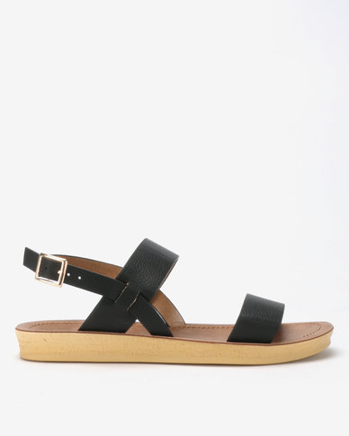 Spoilers by Jada Comfort Ankle Strap Sandals Black
