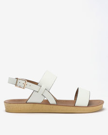 Spoilers by Jada Comfort Ankle Strap Sandals White