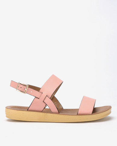 Spoilers by Jada Comfort Ankle Strap Sandals Rose