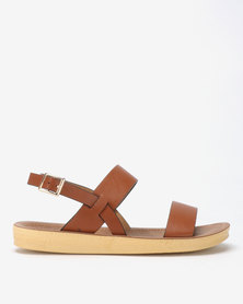 Spoilers by Jada Comfort Ankle Strap Sandals Tan