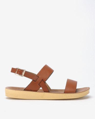 Spoilers by Jada Comfort Ankle Strap Sandals Tan