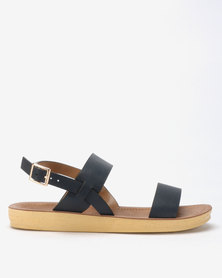 Spoilers by Jada Comfort Ankle Strap Sandals Navy