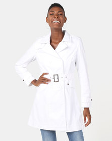 Utopia Cotton Trench Coat White