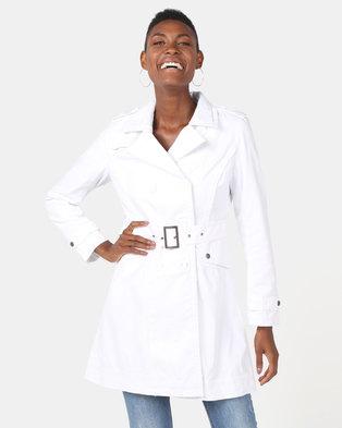 Utopia Cotton Trench Coat White