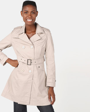 Utopia Cotton Trench Coat Stone