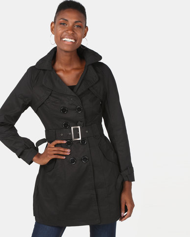 Utopia Cotton Trench Coat Black