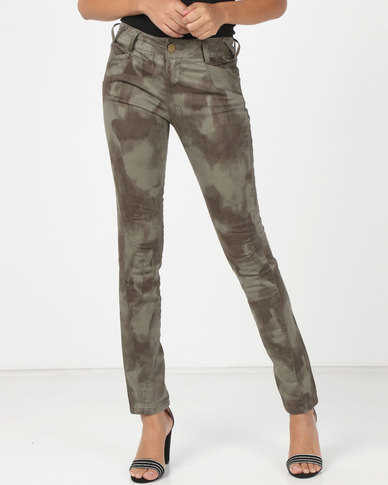 Utopia Printed Denim Skinny Jeans Multi