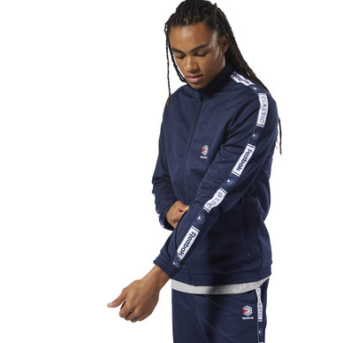 Taped Track Top