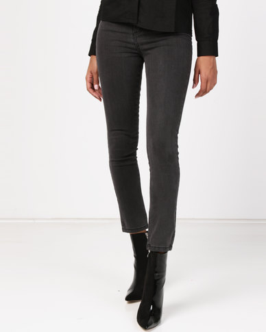 NA-KD Highwaist Skinny Jeans Grey