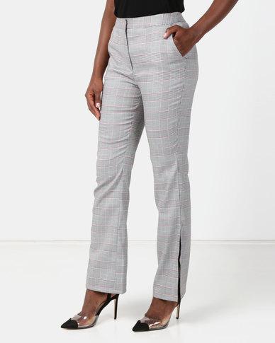 NA-KD Checked Suitpant Grey