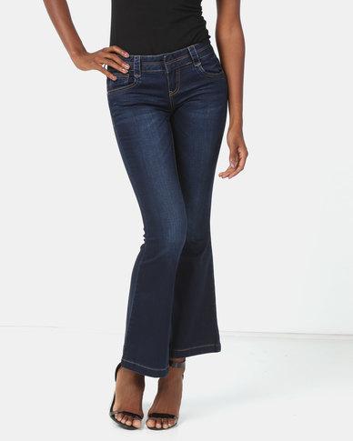 Vero Moda Bootleg Jeans Dark Blue
