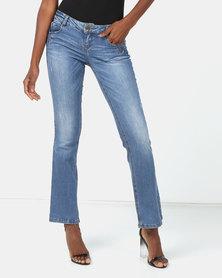 Vero Moda Bootleg Jeans Mid Blue