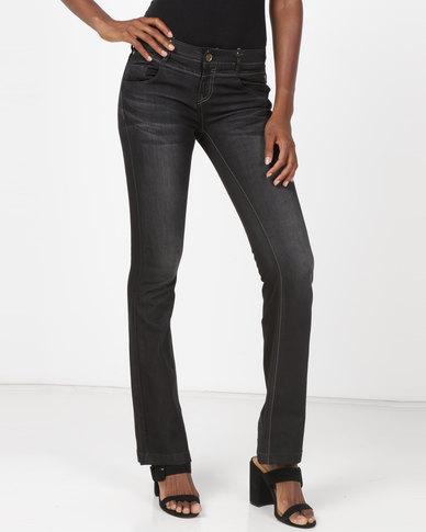 Vero Moda Slim Flare Jeans Black