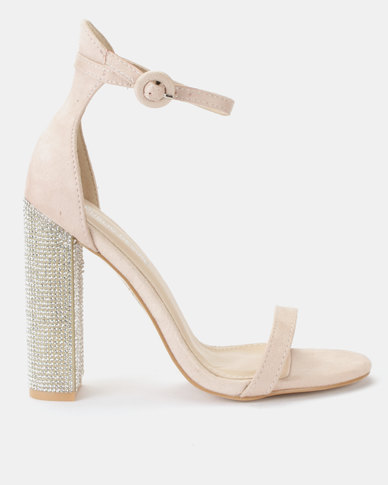 f0bb6ceca065 Public Desire Sofia Barely There Heeled Sandals Nude Fauxe