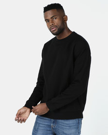 New Look Dropped Shoulder Sweatshirt Black
