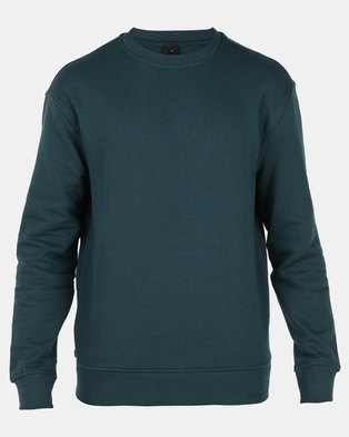 New Look Dropped Shoulder Sweatshirt Teal