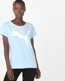 Puma Sportstyle Core Active Logo Tee Blue
