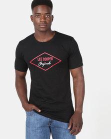 Lee Cooper M Jayden Logo T-Shirt Black